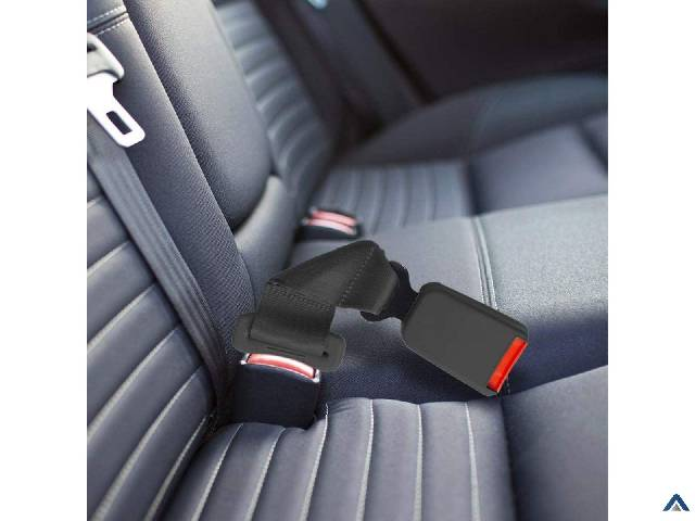 Seat Belt Extender Pros E4 Certified Regular 7 Inch Seat Belt Extender 2-Pack Black (7/8 Inch Width Type A Tongue) Buckle in and Ride Happy